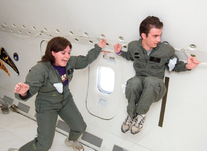 Jessica Reed and Tyler Wilson in the 'Weightless Wonder.'
