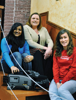 "Ozarks students Kristina Mariswamy and Andrea Dankert worked with Dr. Heather McFarland on ""The Candle Burns."""